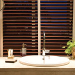 Bathroom Wood Blinds