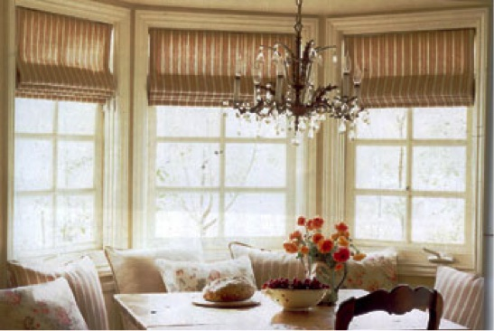 Best window treatments for bay windows in dining room for Window treatments for bay windows in dining room