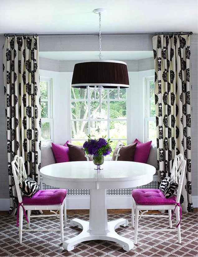 Outside Bay Window Treatment Example